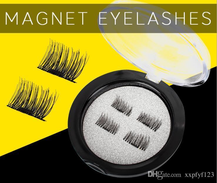 alta quanlity pestañas magnéticas 3D visón reutilizable falso imán pestañas extensión extensiones de pestañas 3d maquillaje de pestañas magnéticas a170