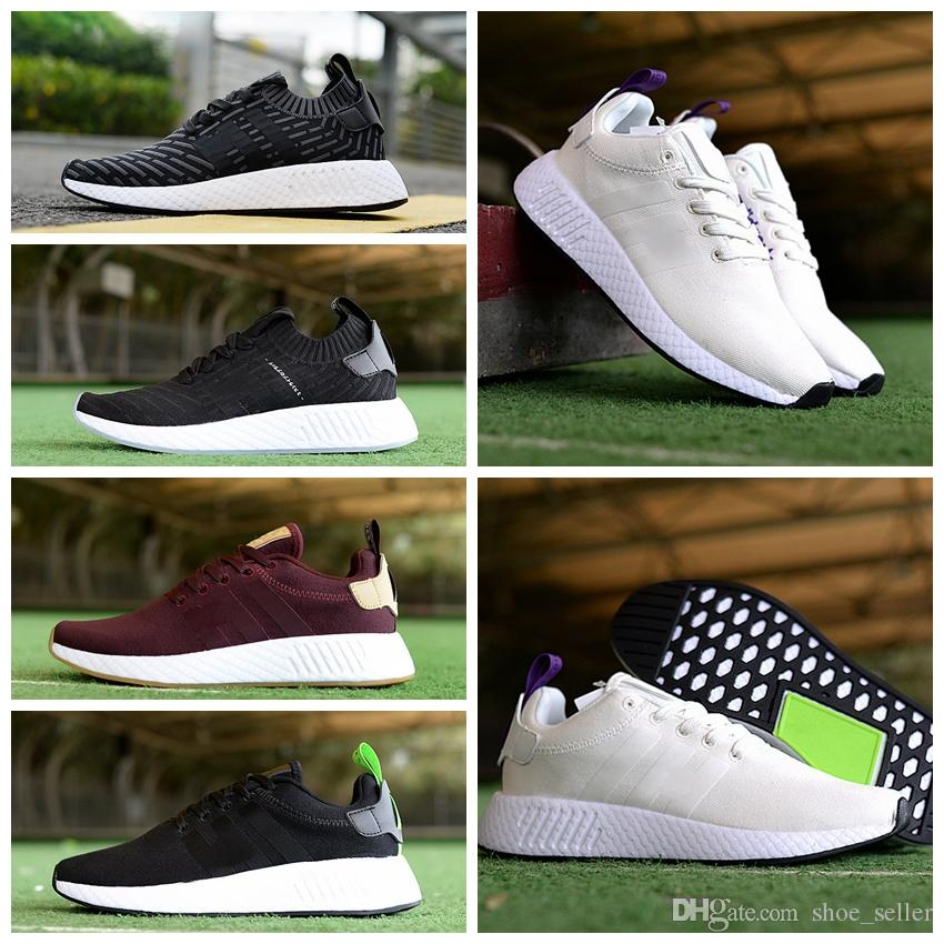 77c966056 2018 NMD Runner R2 World Cup Mesh Triple White Black Men Women Running Shoes  Sneakers Nmds Runners Primeknit Sports Mens Trainers 5 11 Mens Running Shoes  ...