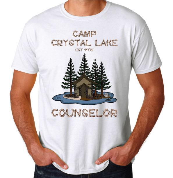 ab5cc1ad8c0d Camp Crystal Lake Friday The 13th Classic Slasher Horror Movie Funny New T  Shirt Summer Fashion Funny Print T Shirts T Shirt Design Online Vintage  Tees From ...