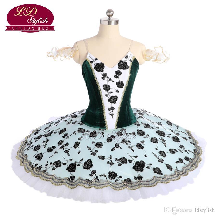 8e5bc7919 2019 Dark Green Professional Ballet Tutu Stage Wear Adult Performance  Dancewear Women Ballet Dance Competition Costumes Girls Ballet Skirt From  Ldstylish, ...