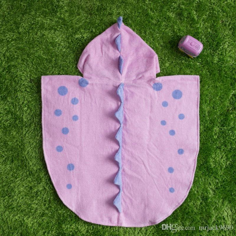 Korean Style Children Cotton Bathrobe Animal Dinosaur Baby Towel Cape Cloak Boys Girls Bath Towel Beach Towel Sleepwear Night Robe Nightgown