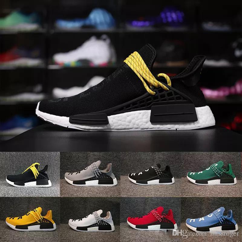 2ca030bda 2019 Hot Sale Human Race Hu Trail Men Womens Pharrell Williams Running  Shoes Nerd Equality Holi Outdoor Athletic Sport Sneaker Eur 36 47 From  Missroger