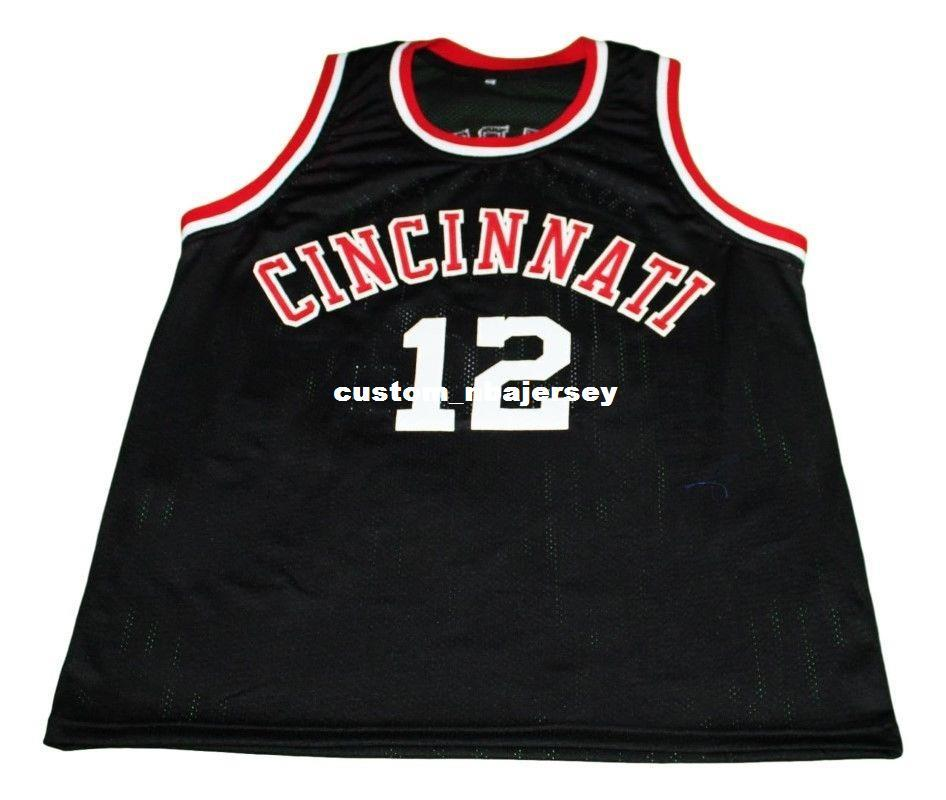 2019 Wholesale Oscar Robertson  12 Cincinnati New Basketball Jersey Black  Stitched Custom Any Number Name MEN WOMEN YOUTH BASKETBALL JERSEYS From ... 6c08c7864