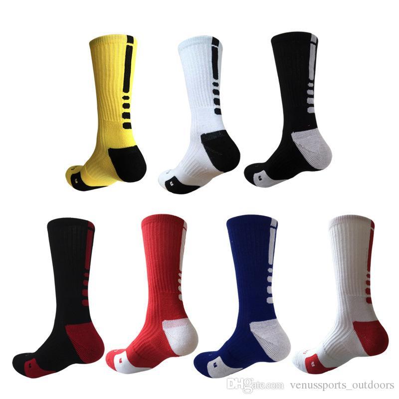 Professional Elite Basketball Socks Fashion Men's Sports Socks Men Polyester Elastic Breathable Basketball Football Sports Sock