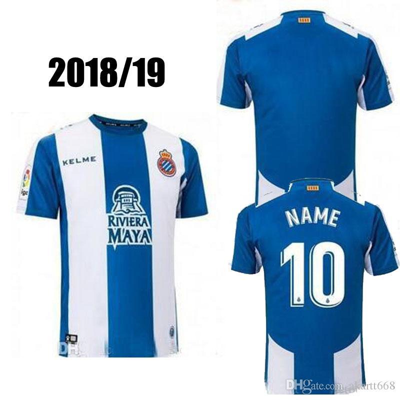 2018 2019 RCD Espanyol Camiseta De Fútbol Borja Iglesias Leo Baptistan 18  19 Real Deportivo Espanyol Deportivo Camiseta De Fútbol De España Shir  Español Por ... c4df8fdf58fef