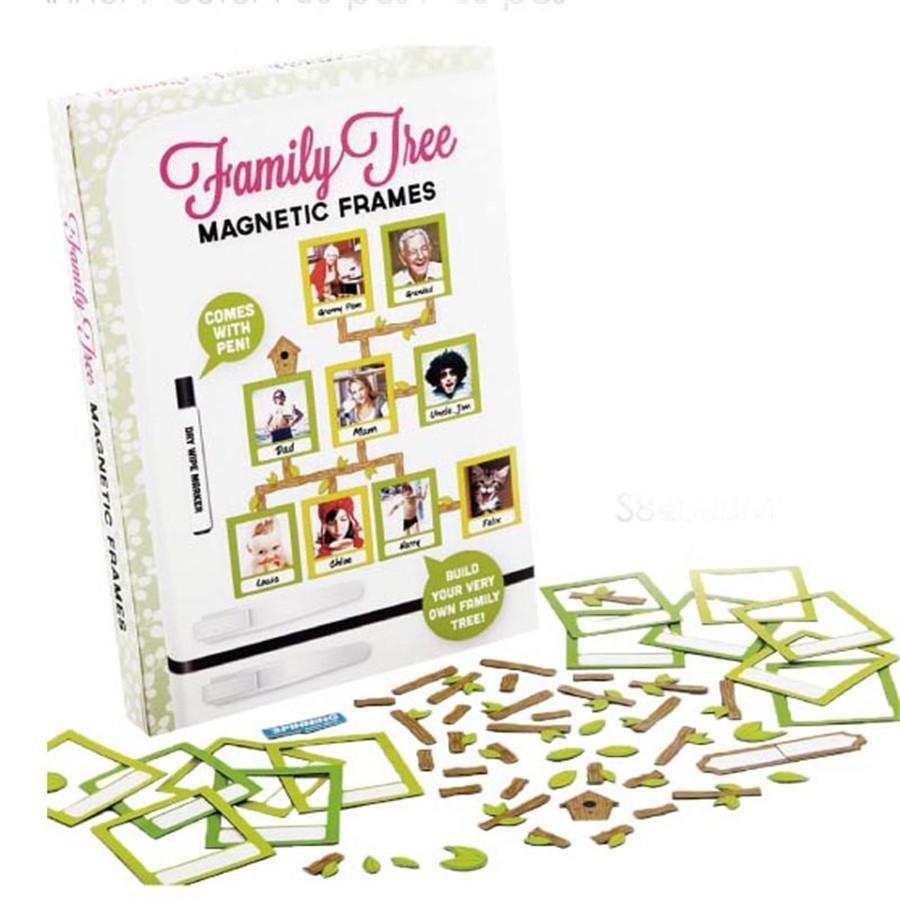 Novelty Diy Fridge Magnetic Frames Home Decor Lovely Family Tree ...