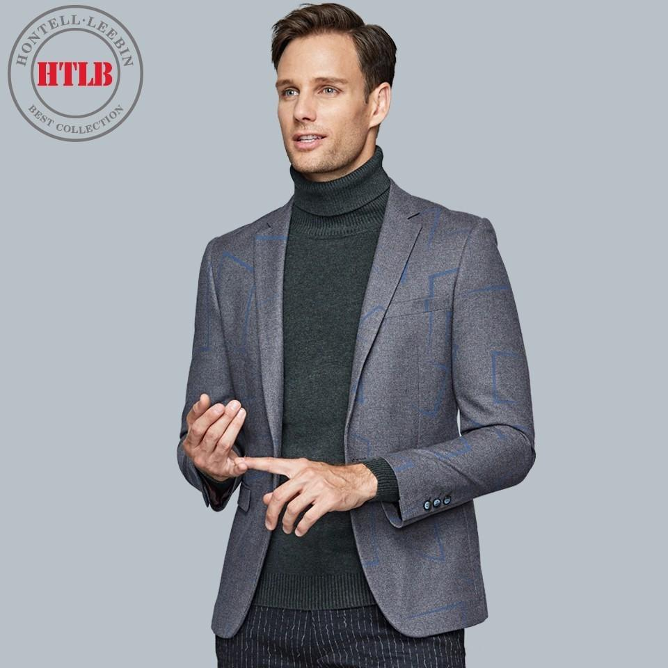 2018 Htlb Brand Boss Men\'S Business Gentlemen Wear Casual Suit ...