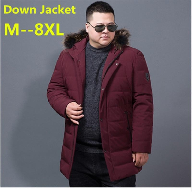 f1096c774ce07 2019 New Big Size 8XL 6XL 5XL 4XL Winter Jacket Men Coat Duck Down Jacket  With Fur Hood Removable Parka Men Coat Masculine From Humphray