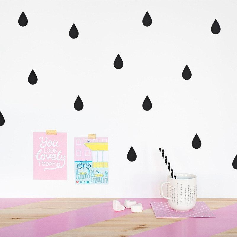 Satın Al Diy Yağmur Damlası Duvar Sticker çıkarılabilir Yağmur