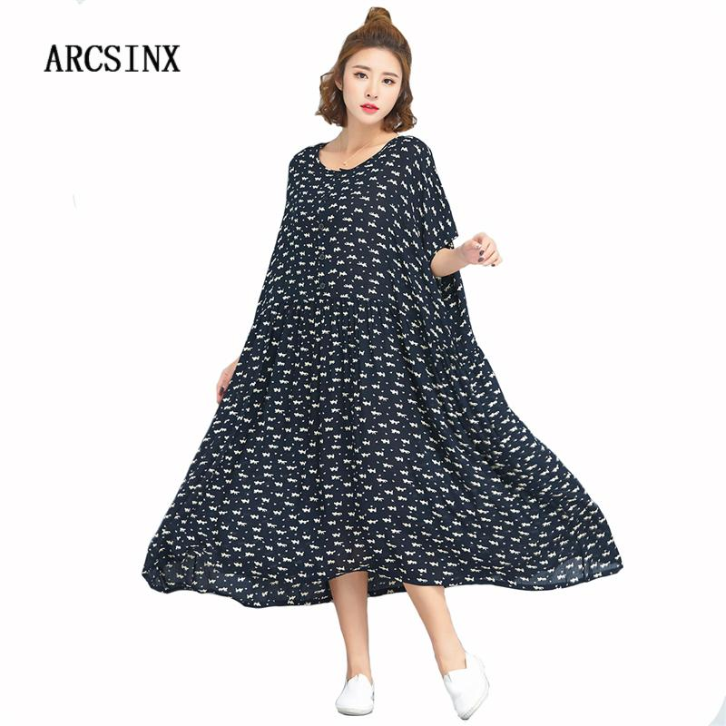 80232e951f2 Acheter ARCSINX Robes En Coton Pour Femme Plus Size Kwaii Robe D été Pour  Femme Manches Courtes Oversize Robe Pour Femme Grande Taille 10XL 9XL 8XL  7XL De ...