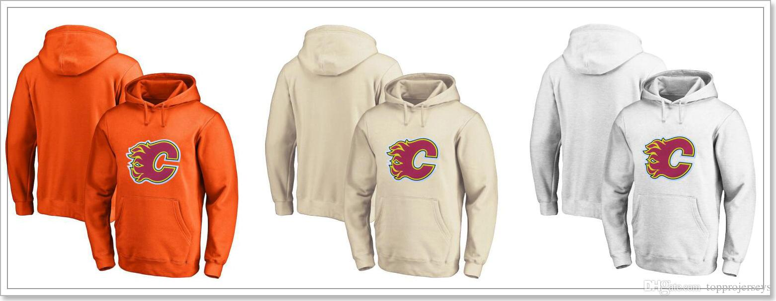 2019 Mens New Calgary Flames Vintage Blank Ice Hockey Shirts Uniforms  Sweaters Hoodies Stitched Embroidery Sports Jerseys Sz S XXXL For Sale From  ... 5e12bc5e5
