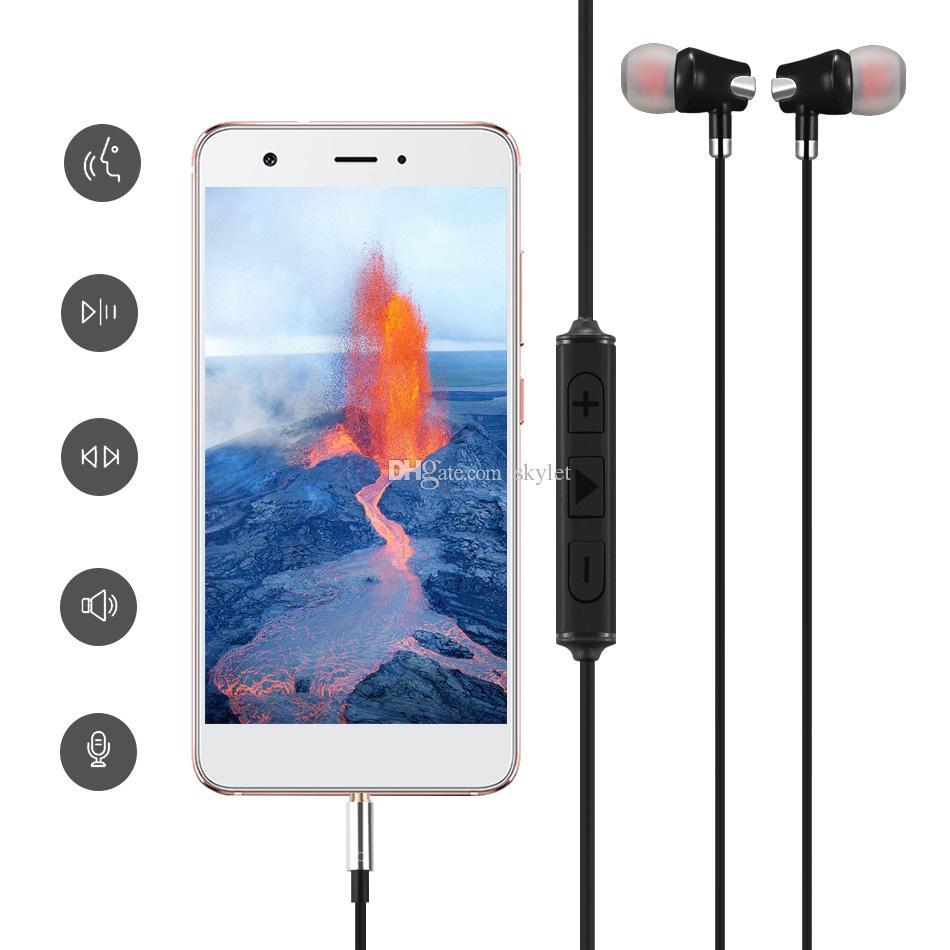 Samsung Galaxy S6 S7 Kulaklıklar için Kulak Kulaklık 3.5mm Kulaklık Mic Ses Ile Cotrol iPhone 6 6 S Için Stereo Kulaklık Ile K ...