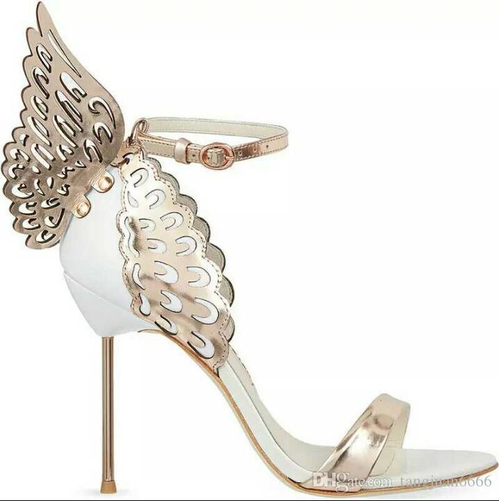 b516f40c 2018 New Hot Sale Brand Sophia Webster Cleo Sandals Genuine Leather Pumps  Butterfly Ultra High Heel Sandals For Women Sexy Stiletto Shoes Strappy  Heels Geox ...
