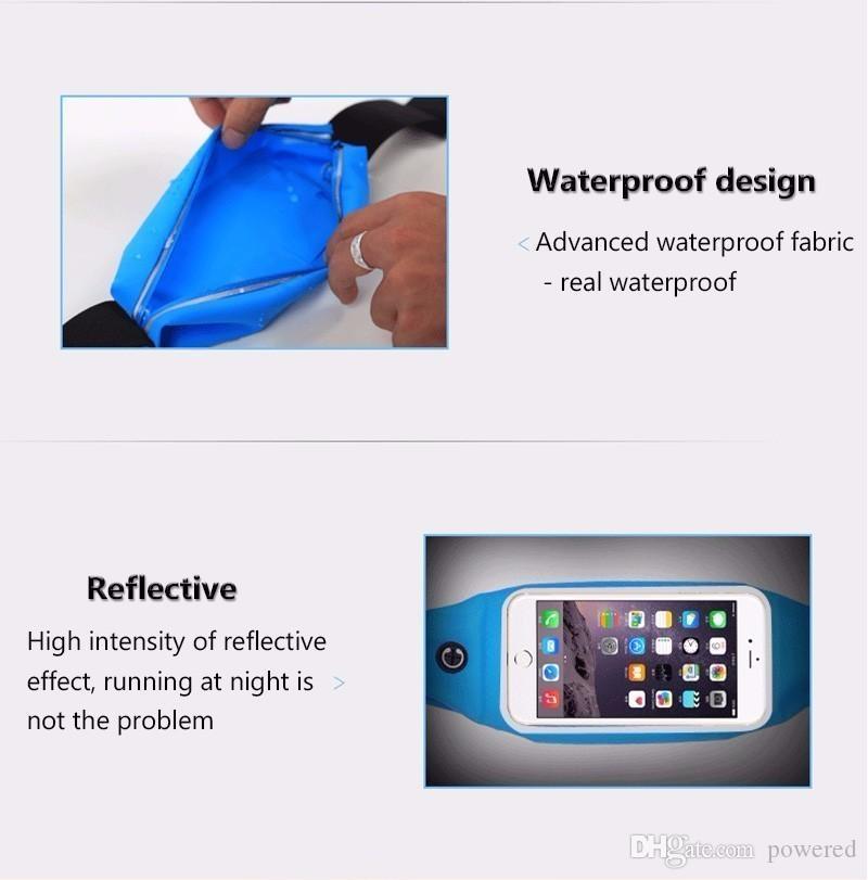 Unuversal Su Geçirmez iphone 6 7 8 / artı inç Spor Bel Kemeri Kılıfı Çanta Case Kapak Elastik Kemer Cep Için iphone 8 X