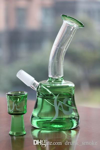 torus hs brand glass water bong glass water pipe best quality green color best quality oil rig two function glass bong