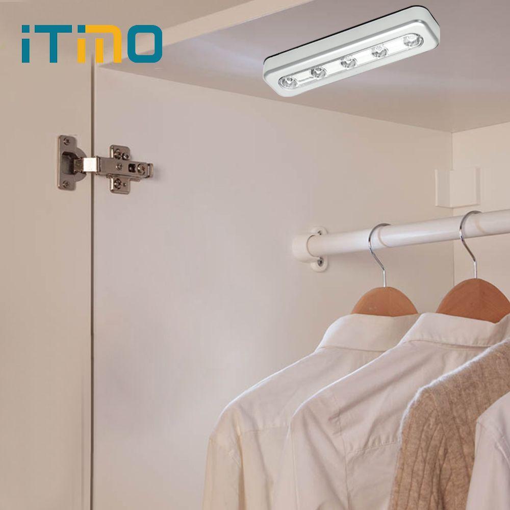 Incroyable 2018 ITimo LED Night Light Wardrobe Closet Lamp Stick On Wall Lamp Battery  Powered Indoor Lighting 5 LEDs Bright Emergency Light Bulb From Stylenew,  ...