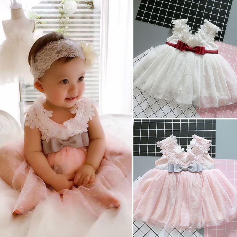 1f0a4e3391 2019 Fairy Baby Girl Christening Dress For Baptism Wedding Kids Girl Party  Wear Dresses Infant Princess 1 Year Birthday Dress 12M 24M From Guoli0005,  ...