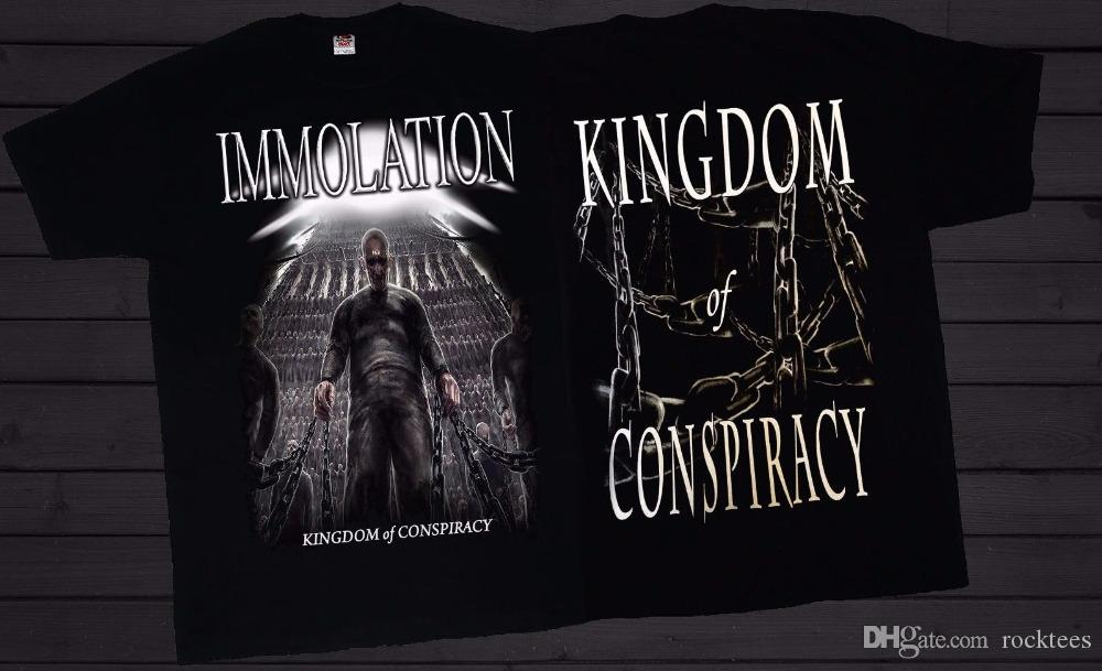 a81dd41f Buy T Shirt Designs Men's Short Immolation Kingdom Of Conspiracy Death  Metal Band T-Shirt Sizes:S To 3XL O-Neck Tall T Shirt