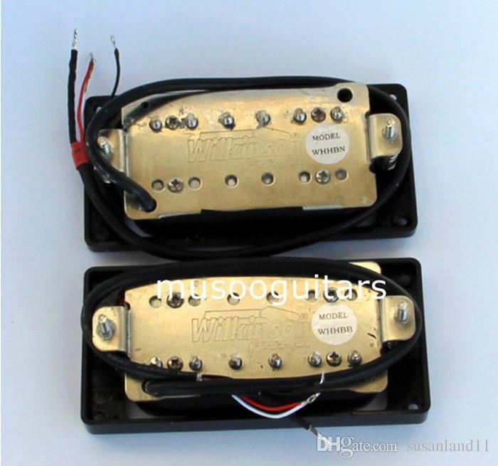 NEU Wilkinson Humbucker Gitarren Pickup Set - WHHB Halsbrücke Alnico 5 Magnet Kupfer-Nickel Base