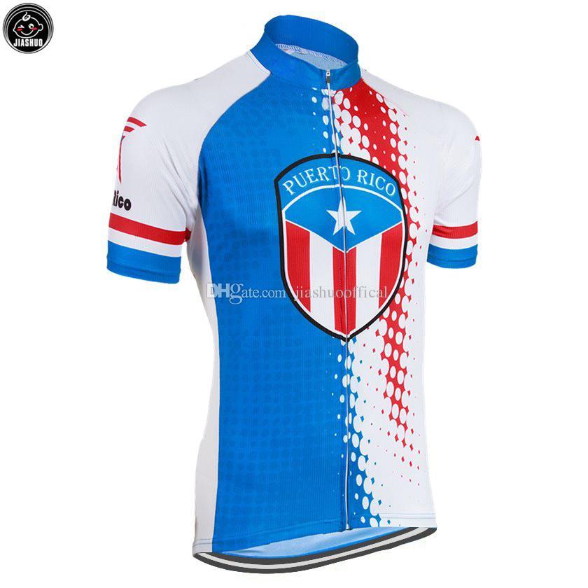 NOVA Puerto Rico EUA estrada mtb RACING Equipe Bike Pro Ciclismo Jersey / Camisas Tops Roupas de Respirar o Ar JIASHUO