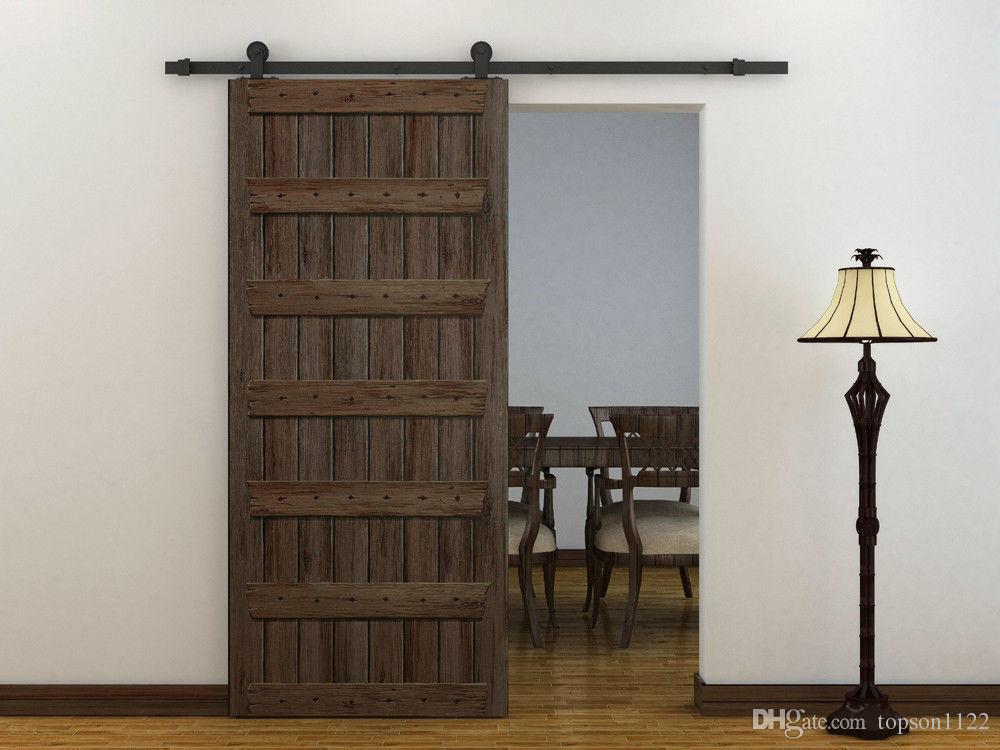 Rustic Top Mounted Sliding Barn Door Hardware Wooden Door Door