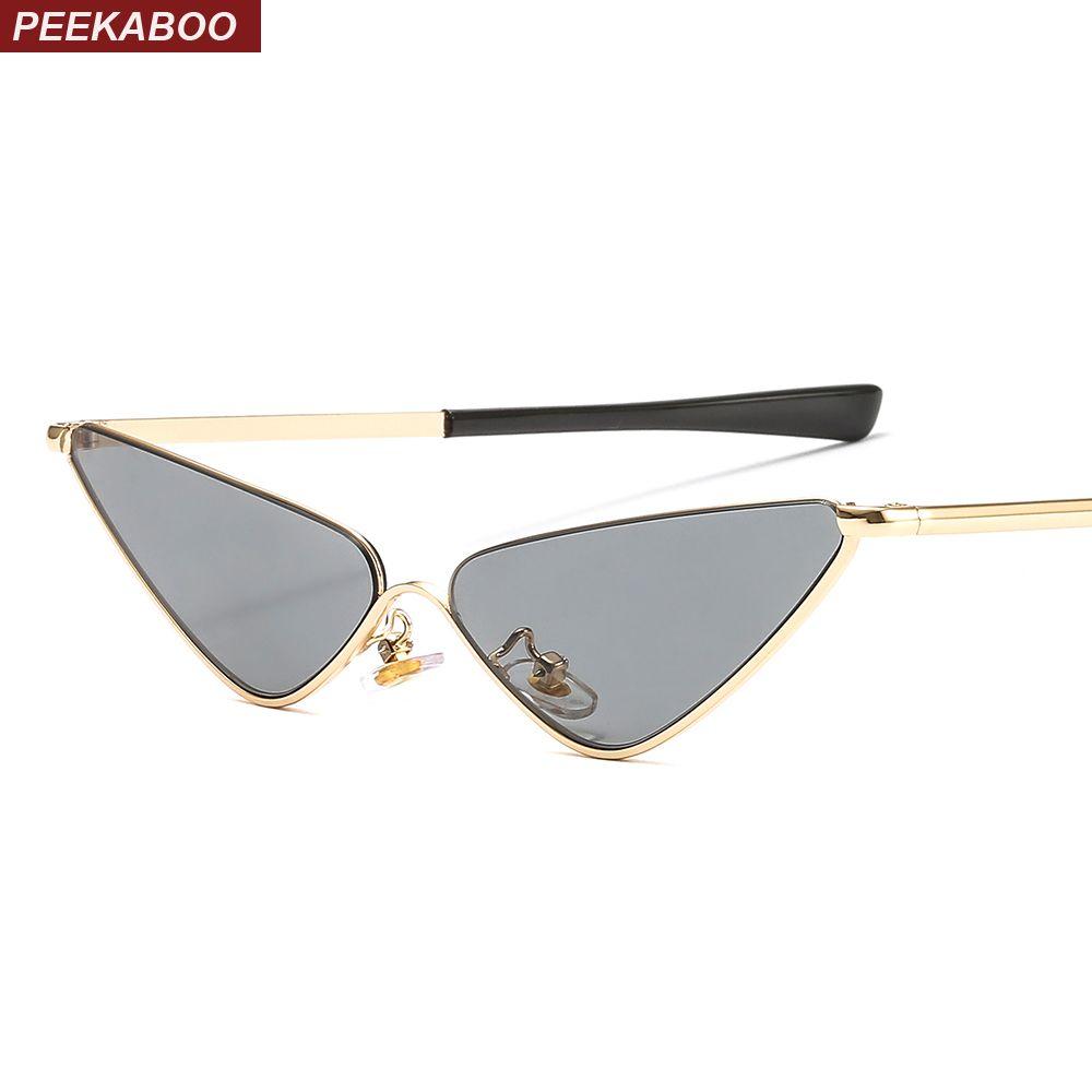 ebeb295848 Peekaboo Clear Lens Narrow Sunglasses Women Cat Eye Luxury Brand ...