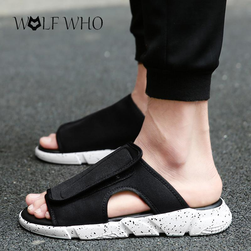 4bb19a6bf Hot Sale! 2017 New Arrival Y3 Sandals KAOHE SANDALS Hook Loop Men Slippers  Open Toed Leather Men Top Quality Red Wedges Summer Shoes From Bestname