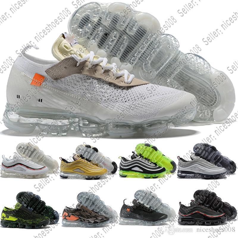outlet store cc72d 97688 Nike Air Max Vapormax Venta CALIENTE 2018 Nuevos 97 Zapatos Metalic Gold  Sliver Bullet Hombres Mujeres Running Shoes Japón Triple Blanco Negro Para  Hombre ...