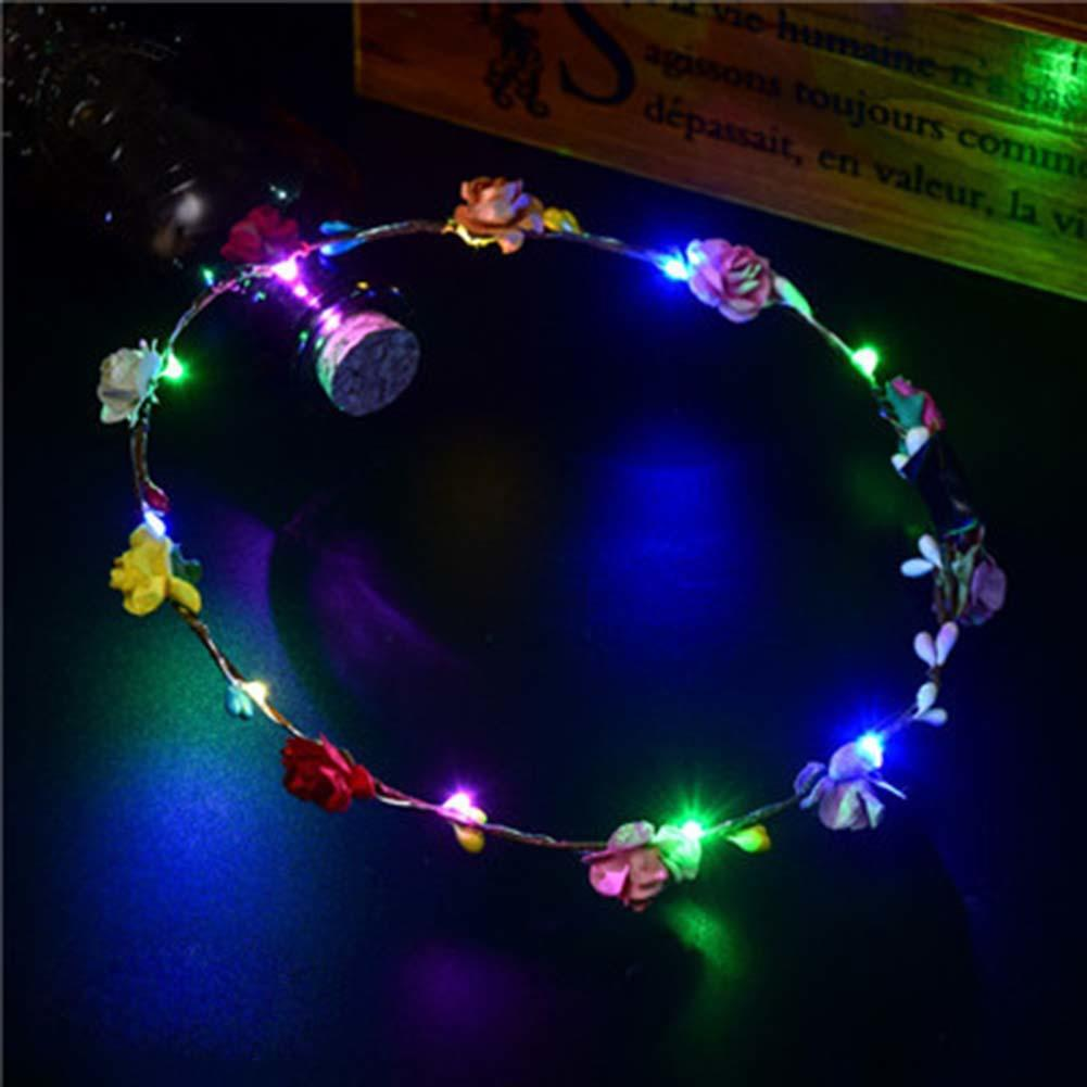 2018 Wedding Party Led Light Up Crown Flower Headband From