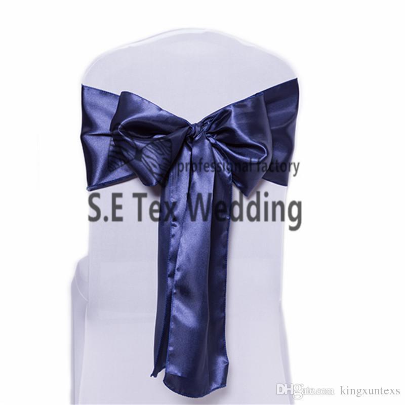Boa Qualidade 200 pçslote Cetim Cadeira Sash Bow Para O Casamento Tampa Da Cadeira Muitas Cores Pode Escolher Frete Grátis