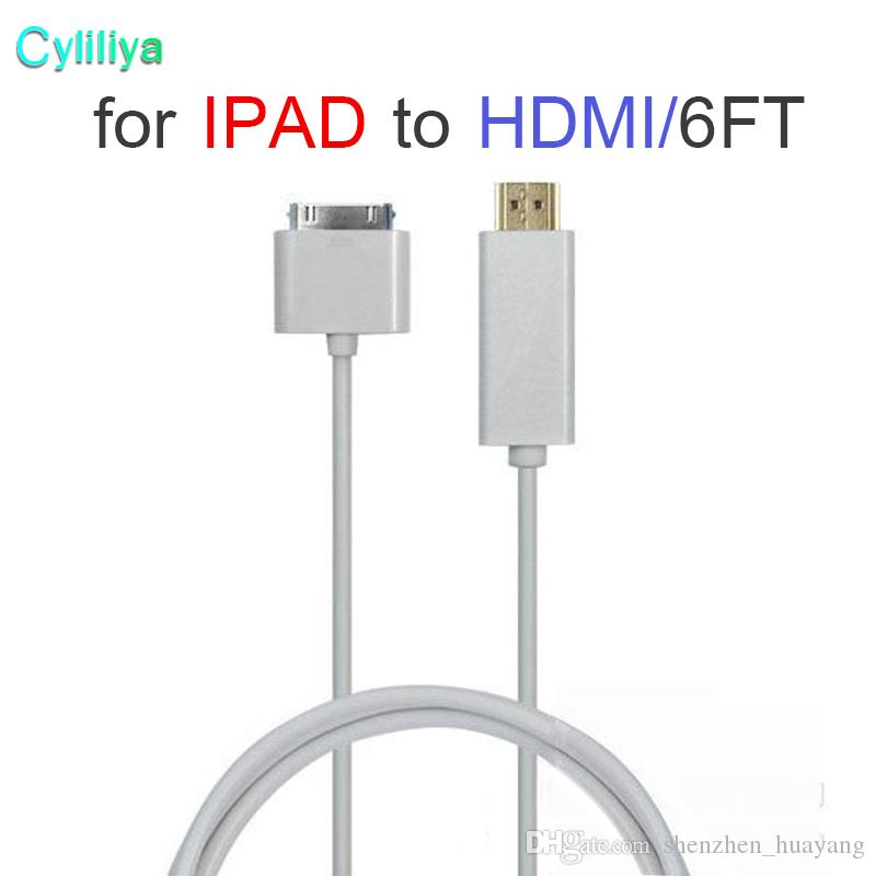 FOR ipad to HDMI cable 6FT/1.8M Dock Connector to HDMI HDTV Audio Video Cable Adapter For iPhone 4S iPad 2 3