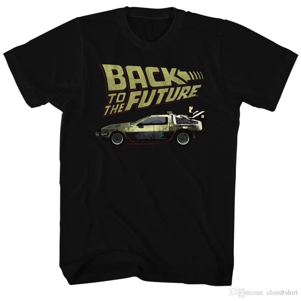 1bb33a64ee2 BACK TO THE FUTURE Men s Short Sleeve T-Shirt BLACK BTF Online with ...