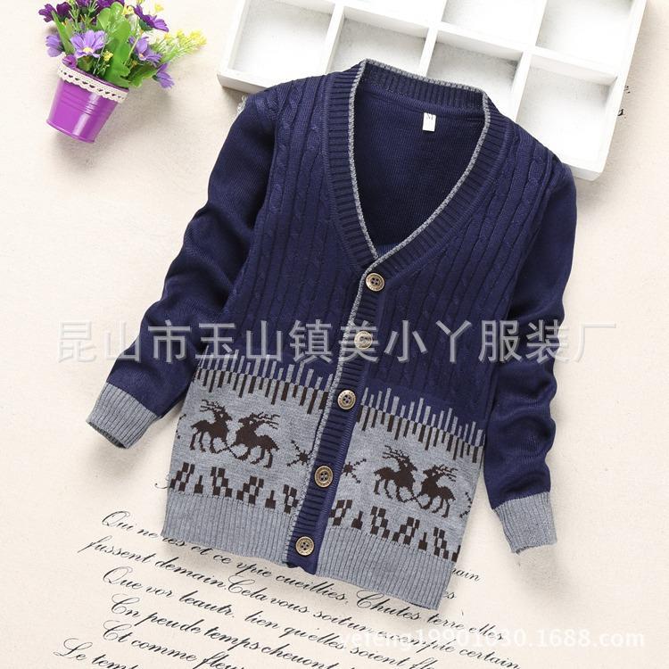 Compre 2018 Nuevos Hombres Coreanos Niños Suéter De Los Muchachos Suéter De  La Rebeca Abrigo Del Invierno Del Niño A  25.57 Del Fkansis  450c8be3139e