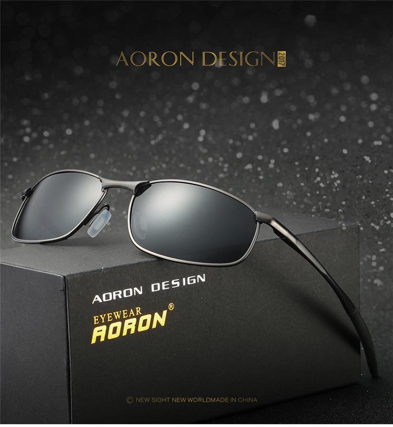 9eea7ecd3f Compre Aoron Gafas De Sol Polarizadas Para Hombres Diseñador De Marca  Rectángulo Rectángulo Gafas De Sol Para Hombre Gafas De Sol De Conducción  Gafas De Sol ...