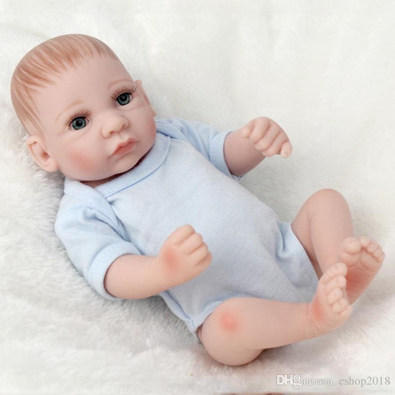 Reborn Baby Dolls Simulation Handmade Reborn Doll 28cm Soft Comfort Accompany Sleeping Newborn Baby Boy Silicone Realistic Doll