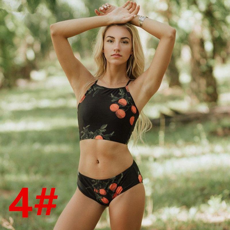 2018 Sexy Alta Pescoço Biquíni Mulheres Swimwear Push Up Maiô Biquini Praia Desgaste Switchback Brasileiro Biquíni Mulheres Maiô