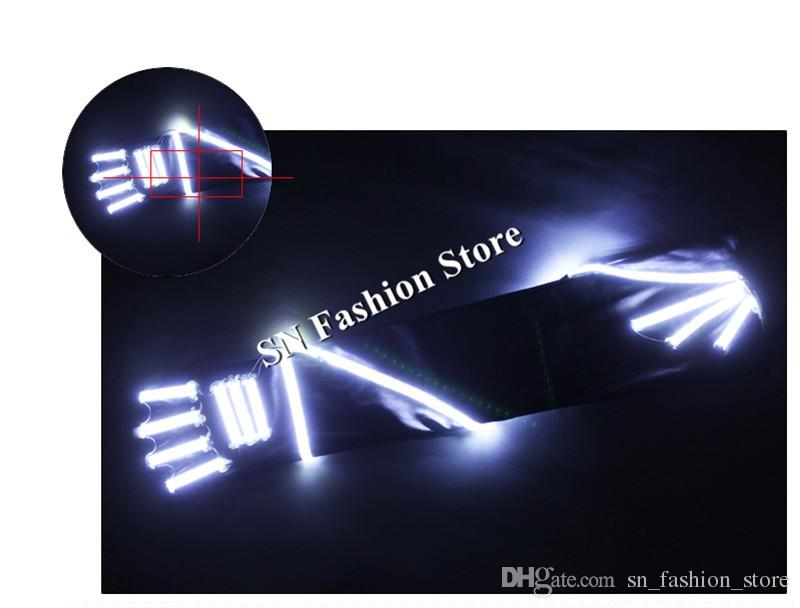 HN04 LED lights ballroom dance gloves illuminated luminous dancing gloves lighting event party wears for costumes dress show performance led