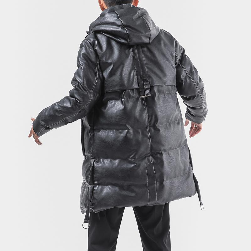 Xl 5xl Long Hooded Leather Jacket Men Winter Coat Men Thick Parka Loose Thermal Mens Winter Jackets And Coats From Blueberry Dhgate Com