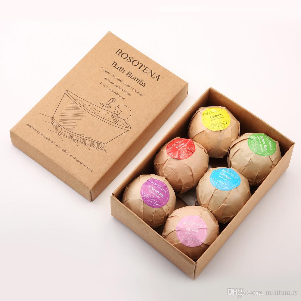 Bubble Bath Bombs Gift Set Rose Cornflower Lavender Oregon Essential Oil Lush Fizzies Scented Sea Salts Balls Handmade SPA Gift