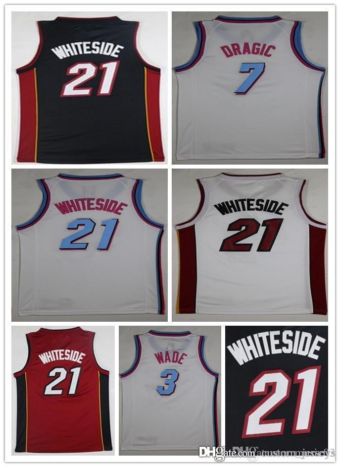 d0962efeb 2018 2018 Mia Miami 3 Dwyane Wade The City 7 Goran Dragic 21 Hassan  Whiteside Mens Heat City White Basketball Jerseys From Custom jerseys