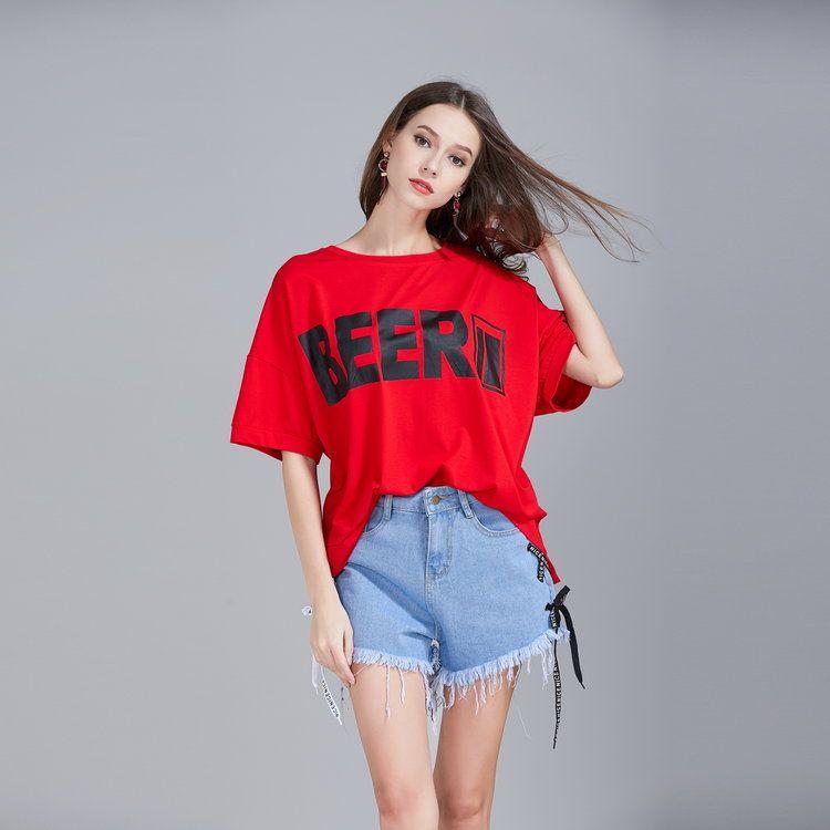 617a4ae7ec7e Compre New Summer Fashion Top Camiseta Para Mujer, Manga Corta Camiseta  Oversize Suelta De Hip Hop Letter Print Camiseta Mujer A $25.74 Del  Showready ...