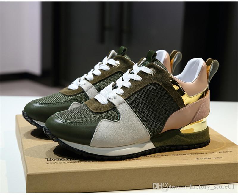 d3aa6a4d308ca9 Großhandel Männer Frauen Designer Turnschuhe Schuhe Luxusmarke Leder  Freizeitschuhe Mesh Up Mode Mischfarbe Schuhe Sneaker Auf Verkauf Größe 36  45 Von ...