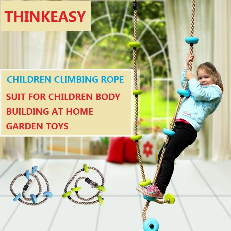 Toys & Hobbies Nice Children Kids Five Knotted Disc Climbing Pp Rope Baby Garden Playground Backyard Outdoor Swing Games Equipment Toys