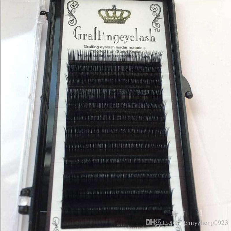 Length 8-14mm C Curl 0.07mm Eyelashes Silk Good quality synthetic mink natural False eye individual eyelash extension