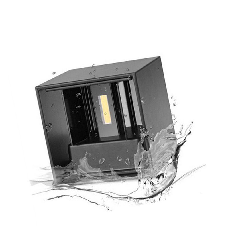 Acheter Ip66 Imperméable Blanc Noir Lampe De Mur Extérieur 6w Led