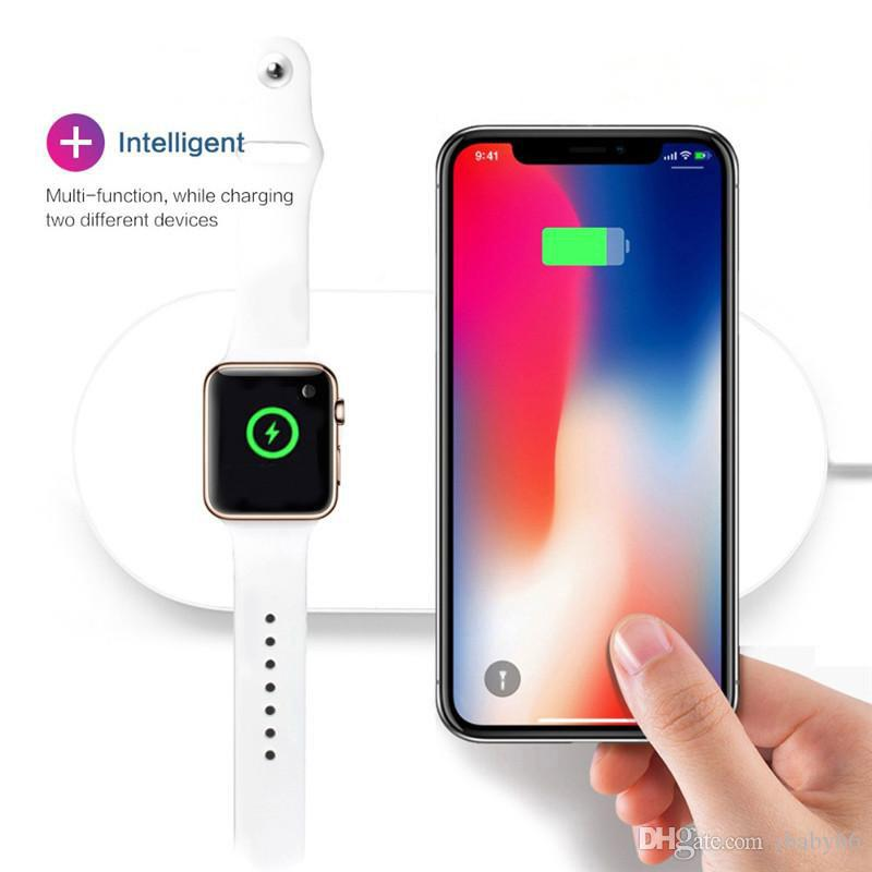 brand new 7267b a249b Apple Watch Series 432 Wireless Charger Fast Charging For Apple Watch423  Iwatch Iphone X 8 plus 2In1 Fast Wireless Pad Dock Phone Adapter