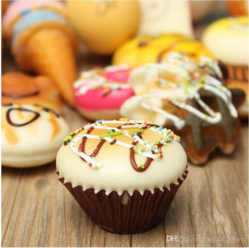 Телефон ремни кулон медленный отскок милый мини-Каваи декомпрессии слон Панда булочка милый мягкий хлеб торт мороженое подарок