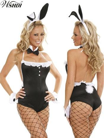 451426fa2e Hot Sexy Girl Next Door Bunny Costume Black Sexy Bunny Strapless Bodysuit  Set Halloween Role-Playing Rabbit Girl Uniform Sexy Bunny Girl Costume  Halloween ...