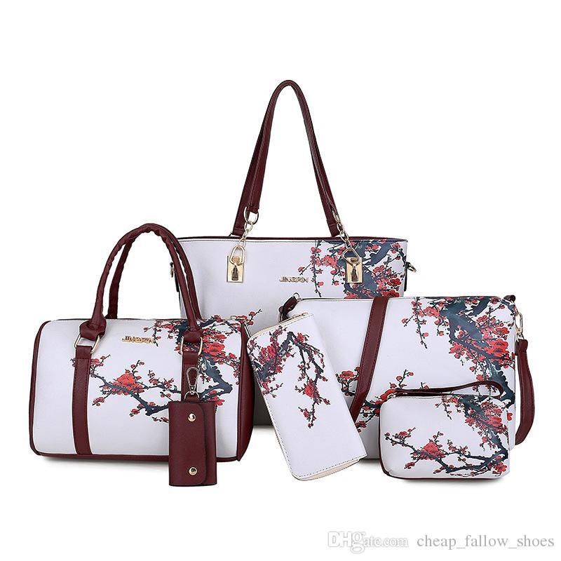 7725ab1edf Hot Sale Set Combination Handbag Printing Fashion Shoulder Bag Purse Handbag  Key Bag Free Shopping Weekend Bags Luxury Bags From Cheap fallow shoes