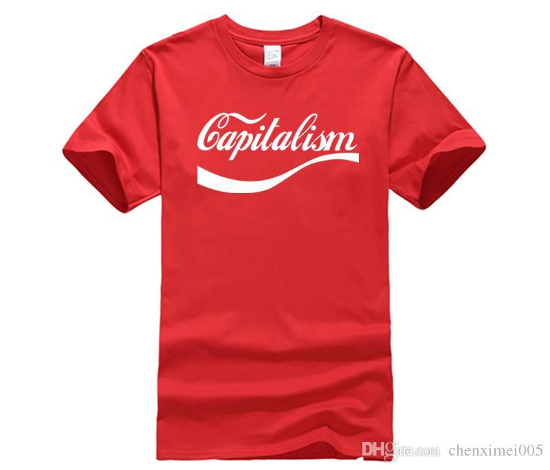 8bc28c41418 Men Fashion Brand T Shirt Enjoy Capitalism T Shirt 100% Premium Cotton Karl  Marx Socialism Communism Mens T Shirt Ladies T Shirts Shirts Design From ...